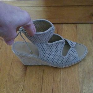 Franco Sarto espadrille wedge shoes